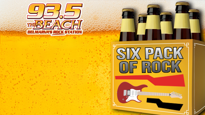93.5 The Beach 6 PACK OF ROCK
